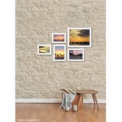 Súprava bielych fotorámikov koláž na stenu BIANCA