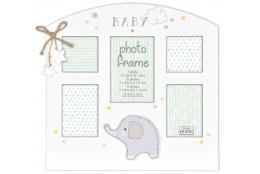 Detský fotorámik na viacero fotiek Glitter Elephant