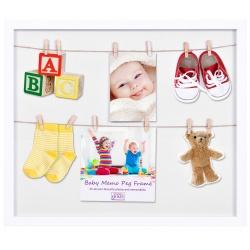 Detský fotorámik na viac fotiek so štipcami Baby PEG