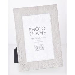Strieborný kovový fotorámik 10x15 Ophelia