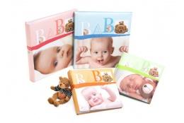 Detský zastrkávací fotoalbum 10x15/200 foto BABY VITAL oranžový