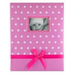 Dětské fotoalbum 10x15/200 DOTS růžové