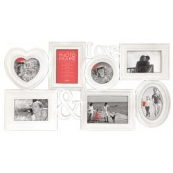 Bílý fotorámeček na více fotoek s Fotorámečkem 20x30 ZDARMA