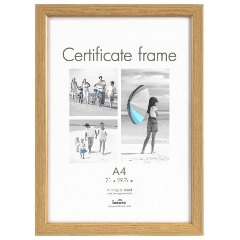 Fotorámik CERTIFICATE A4 (21x29,7cm) dub