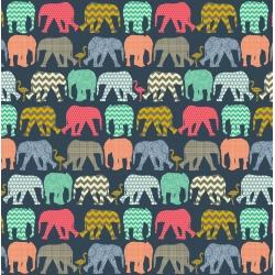 Detský fotoalbum 10x15/140 ELEPHANTS NAVY