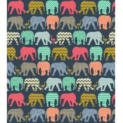 Detský fotoalbum 13x18/140 ELEPHANTS NAVY