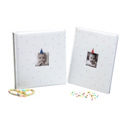 Dětské fotoalbum na růžky  BABY CLOWN 29x32/60 modré