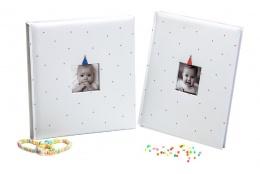 Detský fotoalbum na rožky  BABY CLOWN 29x32/60 modrý