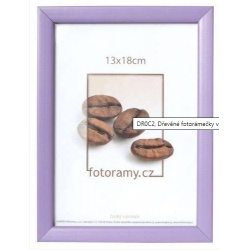 Drevený fotorámik DR0C2 21x29,7 A4 fialový