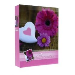 Fotoalbum 9x13/100 FLOWERS ružový