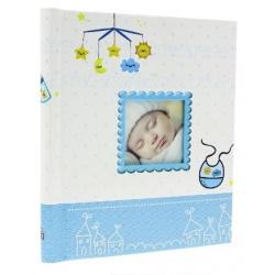 Detský samolepiaci fotoalbum 23x28/40s BIRTH modrý