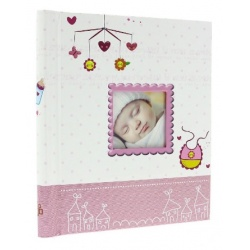 Detský samolepiaci fotoalbum 23x28/40s BIRTH ružový