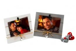 Drevený fotorámik s aplikáciou na foto 15x10 NATURAL FEATURE šedý