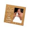 Svadobný drevený fotorámik s aplikáciou FRIENDSHIP 10x15 natur