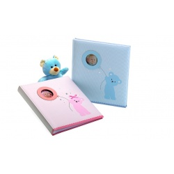 Detský fotoalbum na rožky 29x32/60s. BABY BEAR´s BALLOON modrý