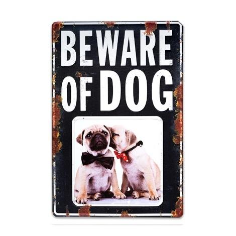 Plechový fotorámik DOG 10x10 čierny