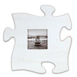 Fotorámik 10x10 Puzzle biely