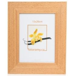 Dřevěný fotorámeček DR4510K 10x15 01 sv.hnědý