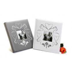 Svadobný fotoalbum na rožky WEDDING TOUCH 29x32/60s. strieborný