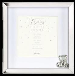 Detský kovový fotorámik BABY SILVER 15x15