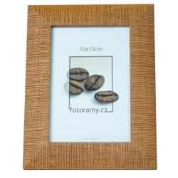 Dřevěný fotorámeček DR005 13x18 sv.hnědý