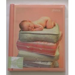 Dětské samolepící fotoalbum RACHAEL HALE 26x32 cm 30 stran růžové