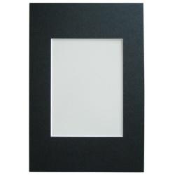 Pasparta 30x40 s výrezom 20x30 čierna