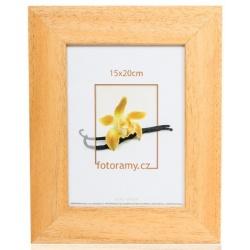 Dřevěný fotorámeček DR4510K 21x29,7 A4 05 mid natural