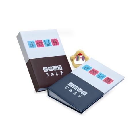 Detský fotoalbum 10x15/300 foto s pop. BABY BOOK modrý