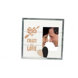 Svadobný drevený fotorámik s aplikáciou STILL IN LOVE I 15x10