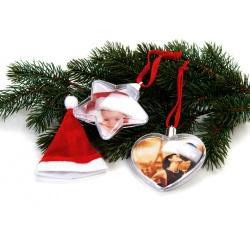Vianočná ozdoba v tvare hviezdy na 2 fotky