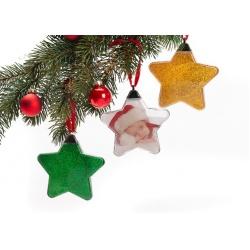 Vianočná ozdoba v tvare hviezdy zelená