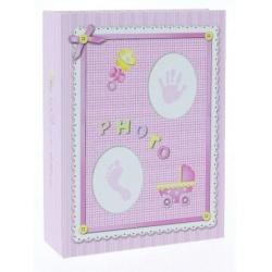 Detský fotoalbum 10x15/100 BABY-3 ružový