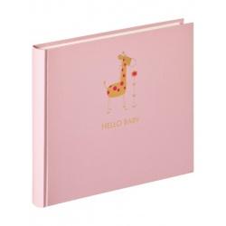 Detský klasický fotoalbum Baby Animal 25x28/50strán ružový