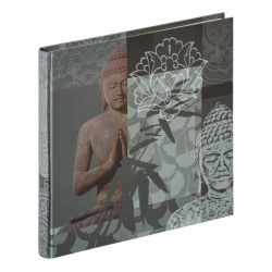 Klasické fotoalbum Buddha 26x25/40 šedý