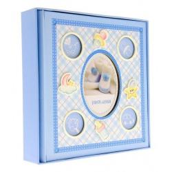 Detský fotoalbum 10x15/200 foto s popisom modrý