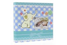 Detský fotoalbum 10x15/200 BABY4G s popisom modrý
