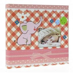 Detský fotoalbum 10x15/200 BABY4G s popisom ružový