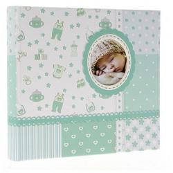 Detský fotoalbum 10x15/200 BABY6G s popisom modrý