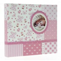 Detský fotoalbum 10x15/200 BABY6G s popisom ružový