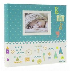 Detský fotoalbum 10x15/200 BABY7G s popisom modrý