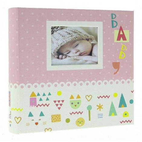Detský fotoalbum 10x15/200 BABY7G s popisom ružový