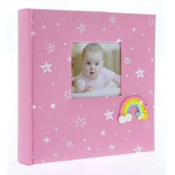 Detský fotoalbum 10x15/200 foto popis RAINBOW ružový