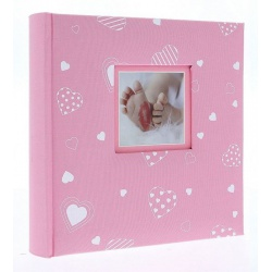 Detský fotoalbum 10x15/200 foto popis BABYHEART ružový