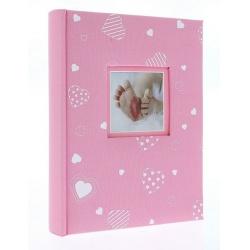 Detský fotoalbum 10x15/200 foto popis BABYHEART ružový vysoký