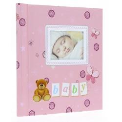 Detský samolepiaci fotoalbum 23x28/40s LOCOTIME ružový