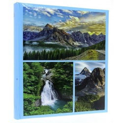 Zastrkávací fotoalbum 10x15/600 WORLD modrý