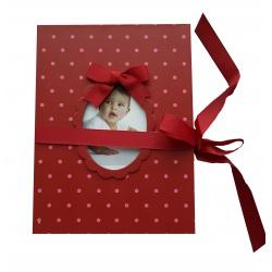 Detské leporelo na 14 foto 10x15 Young Child červené