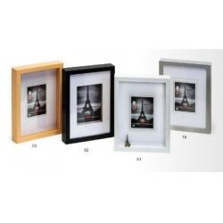 Hluboký dřevěný fotorámeček XXL 15x20 bílý