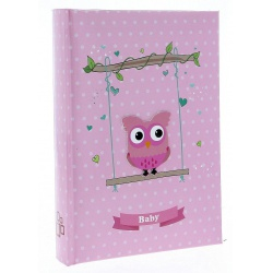 Dětské fotoalbum 10x15/50 BIRD růžové